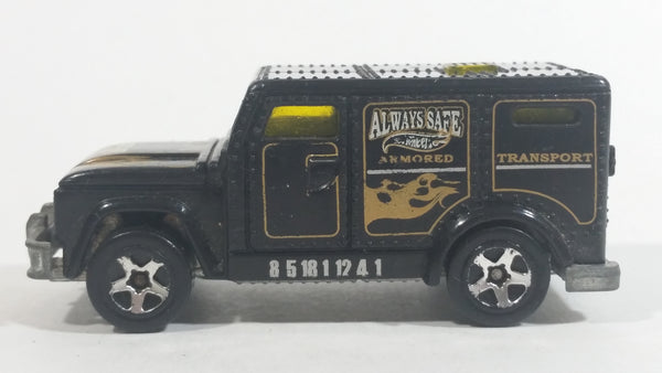 2001 Hot Wheels Armored Truck Always Safe Black Die Cast Toy Car Vehicle