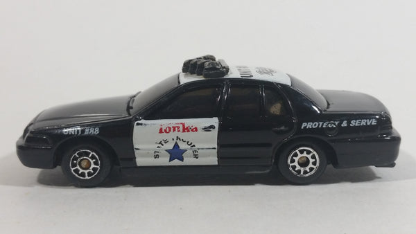 2000 Maisto Tonka Ford Interceptor Unit #88 Radio Black and White Die Cast Toy Police Officer Cop Vehicle