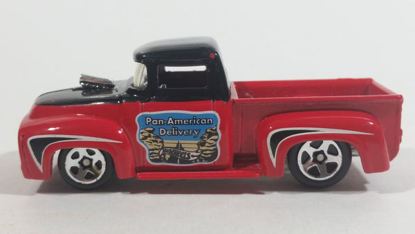 2015 Hot Wheels Road Trippin' Custom '56 Ford Truck Pan American Highway Red and Black Die Cast Toy Car Vehicle