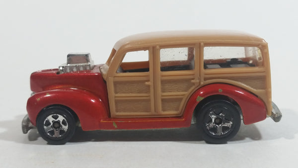 2008 Hot Wheels Team: Surf's Up '40s Woodie Dark Red Surfing Die Cast Toy Muscle Car Vehicle