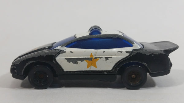 1997 Hot Wheels McDonald's Police Car Black White Die Cast Toy Car Vehicle