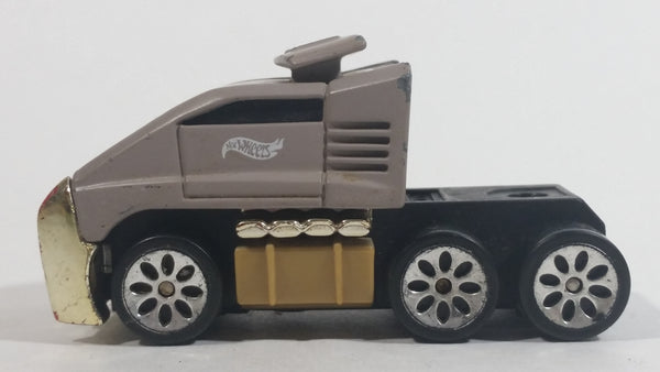 Hot Wheels Semi Truck Gold Brown Die Cast Toy Rig Tractor Vehicle