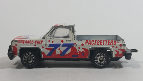 Zee Toys Zylmex Dyna Wheels Pace Setters GMC Chevy Fleetside Truck D99 #77 1 White Diecast Toy Car Vehicle