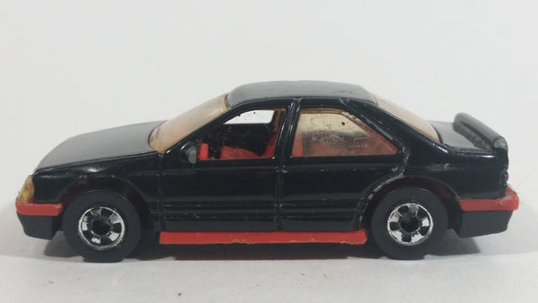 1991 Hot Wheels Peugeot 405 Black Die Cast Toy Car Vehicle