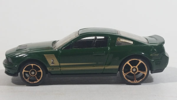 2010 Hot Wheels Faster Than Ever '07 Shelby GT500 Dark Green Die Cast Toy Muscle Car Vehicle
