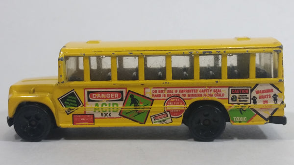 1998 Hot Wheels Mixed Signals School Bus Yellow Die Cast Toy Car Vehicle