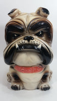 "10"" Tall Ceramic Bulldog Dog Coin Bank - Made in Taiwan"