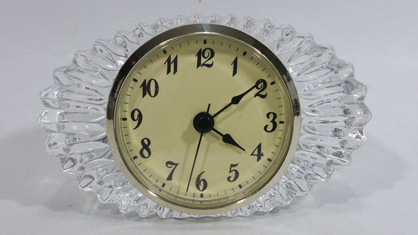 Shannon Crystal Designs of Ireland 24% Lead Hand Crafted Crystal Decorative Clock - Needs a new battery