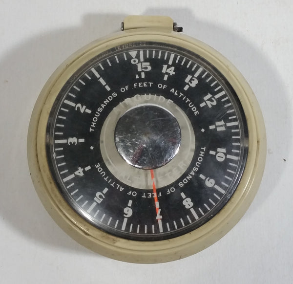 Vintage Airguide Altimeter Airplane Altitude Gauge 0 to 15,000 feet