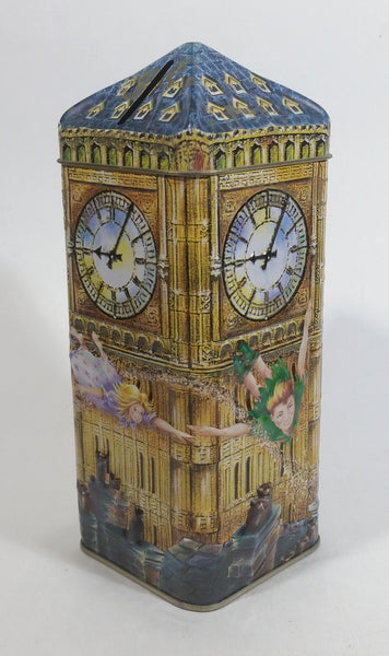 Churchill's Peter Pan Big Ben Clock 3D Metal Tin Coin Bank Collectible