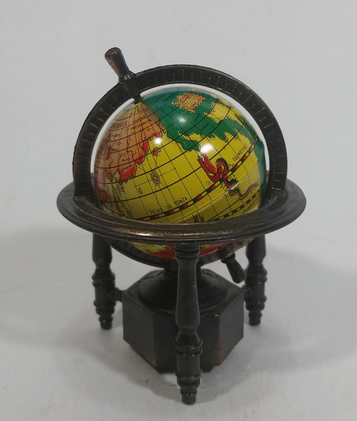 Vintage Miniature World Globe Metal Pencil Sharpener Doll House Furniture Size Spins Just Like The Real Size