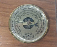 Barostar Laser Engraved Wood Weather Station Barometer Humidity