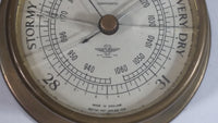 Shortland Smiths British Made Barometer Instrumentation Gauge with Cracked Lens For Repair or Parts