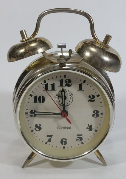 Cardinal Brand Double Bell Wind Up Alarm Clock