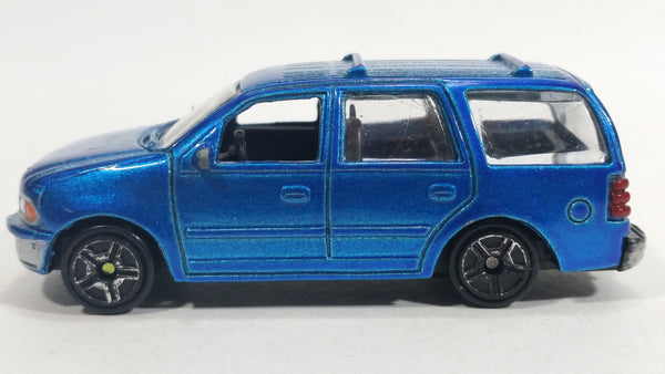 Motor Max Super Wheels Ford Expedition No. 6021 Blue Die Cast Toy Car SUV Vehicle