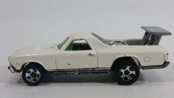 2000 Hot Wheels First Editions 68 El Camino Pearl White Die Cast Toy Muscle Car Vehicle