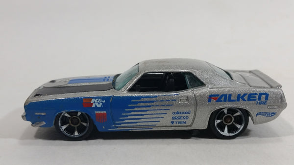 2013 Hot Wheels Workshop Performance '70 Plymouth AAR Cuda Metallic Grey Die Cast Toy Muscle Car Vehicle