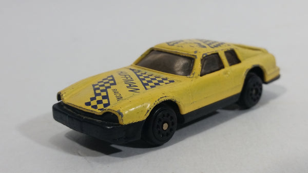 "Unknown Brand Light Yellow ""Huffman Racing"" #23 Die Cast Toy Car Vehicle"