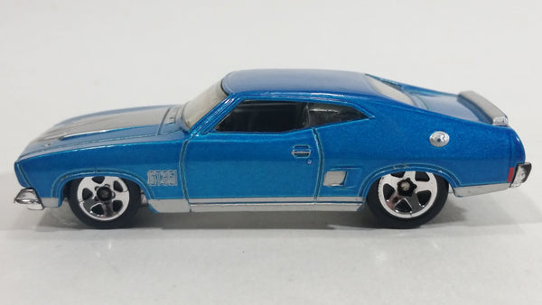 2010 Hot Wheels All Stars '73 Ford Falcon XB Metallic Blue Die Cast Toy Muscle Car Vehicle