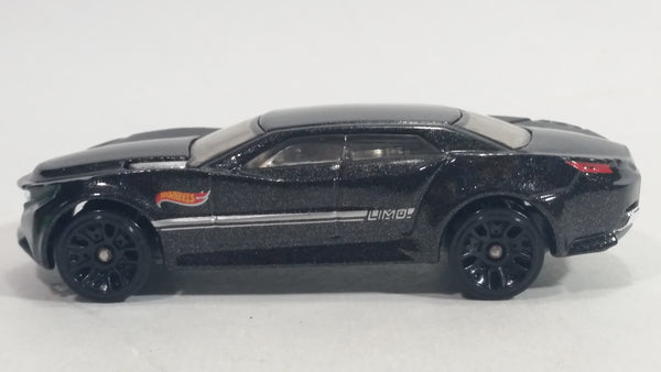 2014 Hot Wheels Ryura LX Metalflake Black Die Cast Toy Car Vehicle
