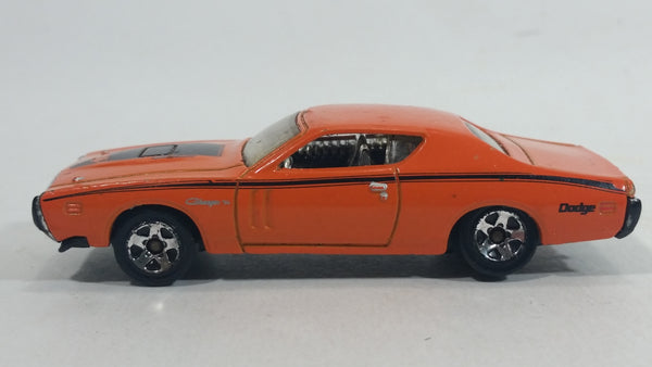 2010 Hot Wheels '71 Dodge Charger Orange Die Cast Toy Muscle Car Vehicle