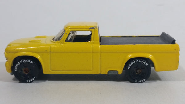 2011 Hot Wheels '63 Studebaker Champ Truck Yellow Die Cast Toy Classic Car Vehicle With Good Year Eagle Tires