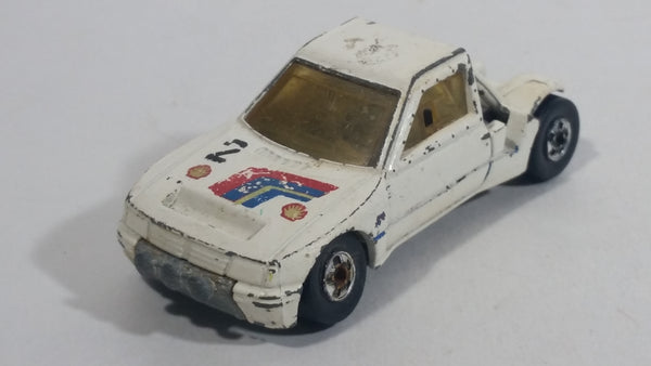 "1989 Hot Wheels Peugeot 205 Rallye White #2 ""Shell"" Die Cast Toy Car Vehicle"