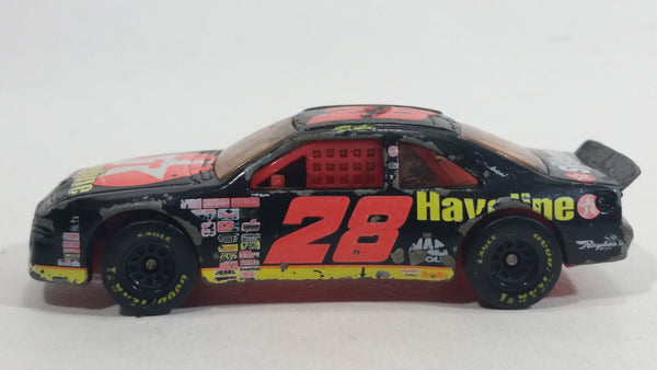 1997 Hot Wheels Pro Racing - Basic T-Bird Stocker Black Ernie Irvan #28 Texaco Havoline Die Cast Toy Nascar Race Car Vehicle