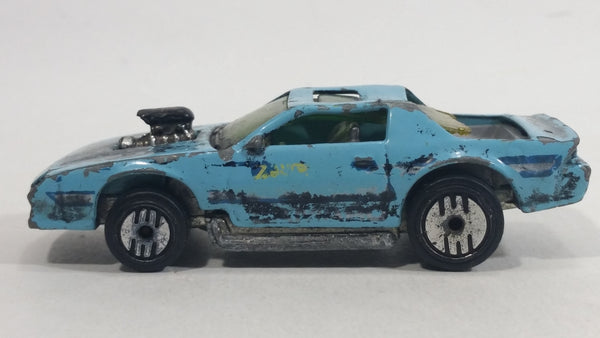 1990 Hot Wheels Blown Camaro Light Blue Turquoise Die Cast Toy Car Vehicle UH