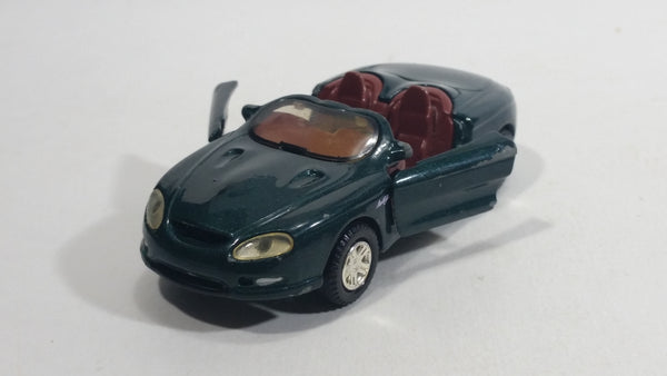 Motor Max Mustang Mach III Convertible 1/43 Scale Dark Green No. 4009 Die Cast Toy Car Vehicle with Opening Doors