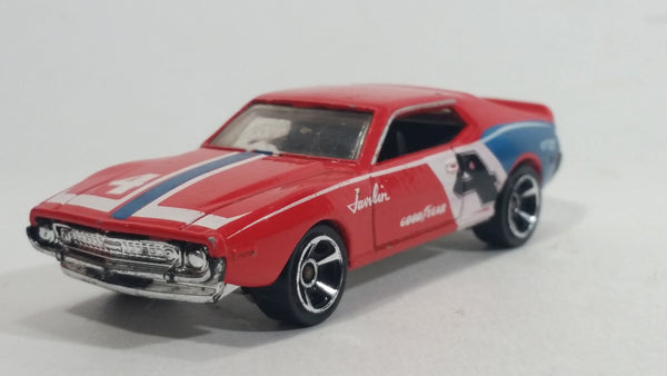 2010 Hot Wheels Muscle Mania AMC Javelin AMX Red Die Cast Toy Muscle Car Vehicle