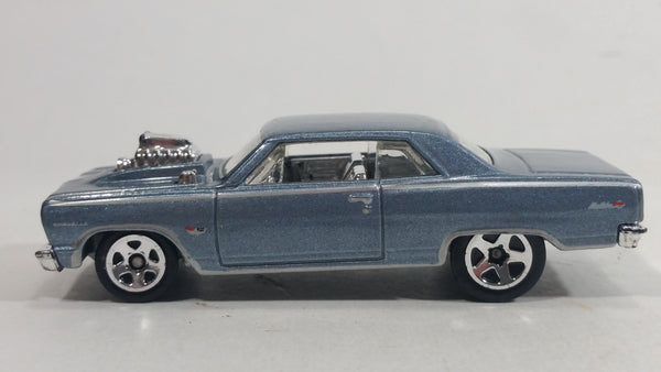 2012 Hot Wheels '64 Chevelle SS Metalflake Steel Blue Die Cast Toy Muscle Car Vehicle