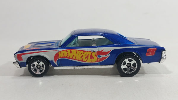 2011 Hot Wheels HW Racing '67 Chevelle SS 396 Metalflake Blue Die Cast Toy Muscle Car Vehicle