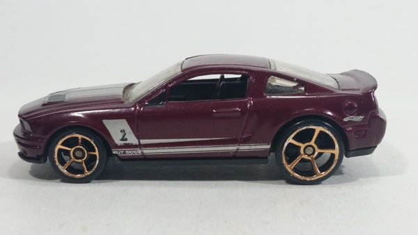 2010 Hot Wheels Faster Than Ever '07 Shelby GT500 Metallic Plum Burgundy Die Cast Toy Muscle Car Vehicle