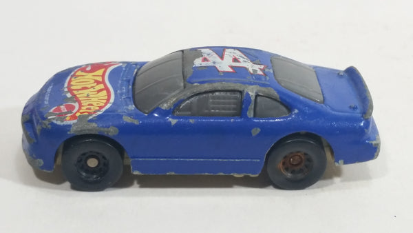 2000 Hot Wheels Racer Nascar #44 7/20 Blue Die Cast Toy Race Car Vehicle McDonald's Happy Meal