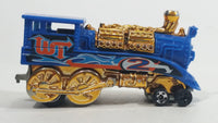 2006 Hot Wheels Wild Things Rail Rodder Locomotive Train #2 Blue and Gold Die Cast Toy Car Vehicle