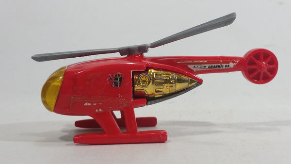 2009 Hot Wheels HW City Works Killer Copter Sky Fire Channel 68 Red Die Cast Toy Helicopter Aircraft Vehicle