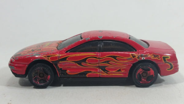 2003 Hot Wheels Raptor Blast Oldsmobile Aurora Red Die Cast Toy Car Vehicle