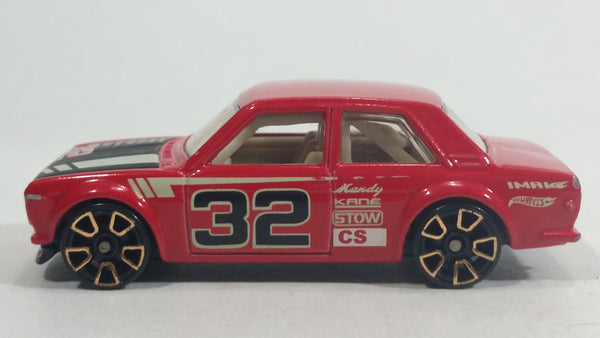 2012 Hot Wheels Faster Than Ever Datsun Bluebird 510 Red #32 Die Cast Toy Race Car Vehicle