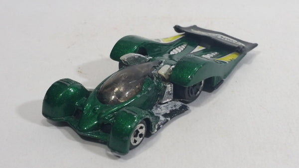 2004 Hot Wheels First Editions Crooze LeMelt Green Die Cast Toy Race Car Vehicle