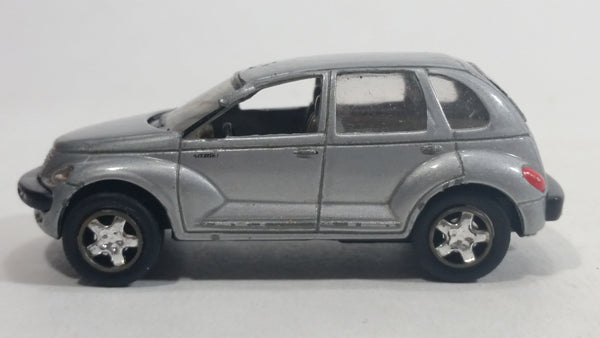 2001 Boley Chrysler PT Cruiser Silver 1/64 Scale Die Cast Toy Car Vehicle with Rubber Tires