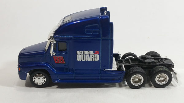 "NASCAR Authentics Semi Tractor Truck Dale Earnhardt Jr #88 ""National Guard"" Dark Blue Die Cast Toy Car Vehicle Rig with Rubber Tires"