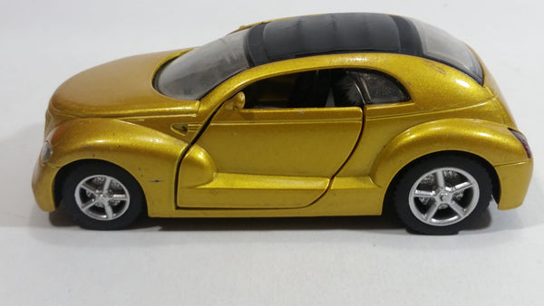 2000 New Ray City Cruiser Daimler Chrysler Pronto Metalflake Yellow Gold 1:32 Scale Die Cast Toy Car Vehicle