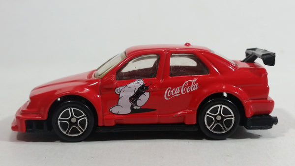 1999 Matchbox Coca-Cola Alfa Romeo 155 Coke Polar Bear Red Die Cast Toy Car Vehicle