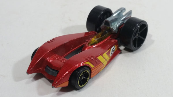 2011 Hot Wheels 4-Lane Elimination Race Duel Fueler #5 Metalflake Red Die Cast Toy Car Vehicle