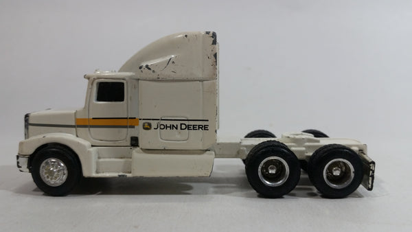 Ertl John Deere Semi Tractor Truck White Die Cast Toy Car Rig Vehicle Farming Collectible