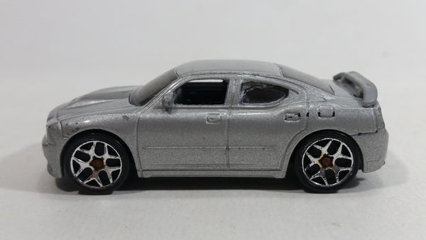 2007 Hot Wheels Dodge Charger SRT8 Metalflake Silver Die Cast Toy Car Vehicle