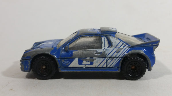 1990 Matchbox Ford RS200 Blue and White #2 Die Cast Toy Car Vehicle