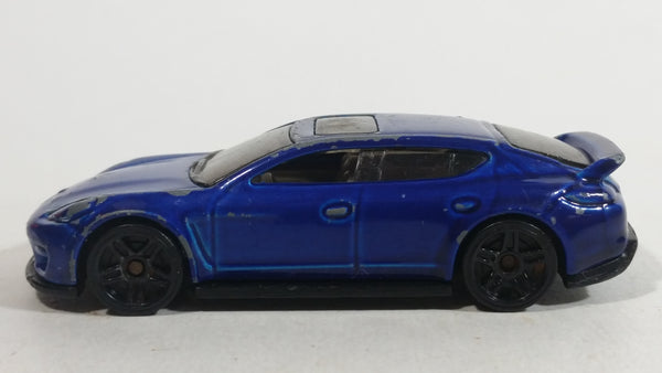 2014 Hot Wheels HW City Speed Team Porsche Panamera Blue Die Cast Toy Car Vehicle