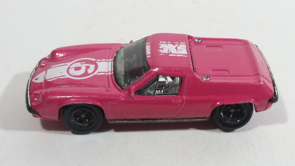 2011 Matchbox Heritage Classic Lotus Europa  - 1972 Special #6 Pink Die Cast Toy Car Vehicle